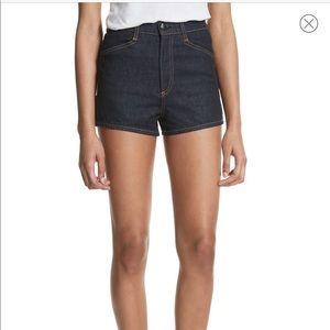 NWT Rag & Bone Ellie High Rise Dark Wash Shorts